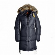 Parajumpers Long Bear Dam Dunjacka Päls Trim Dark Blå Färg..