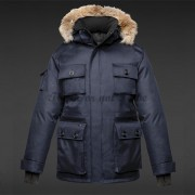 Herr Nobis Barry Parka Colour Crosshatch Balsam Navy..